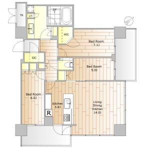 3LDK Mansion in Koyama - Shinagawa-ku Floorplan