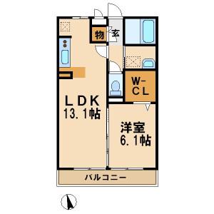 1LDK Apartment in Tsuchihashi - Kawasaki-shi Miyamae-ku Floorplan