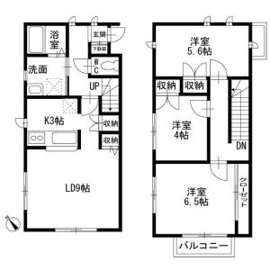 3LDK Terrace house in Tsuboihigashi - Funabashi-shi Floorplan
