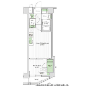 1LDK Apartment in Sendagaya - Shibuya-ku Floorplan