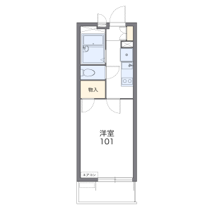 1K Mansion in Minamirokugo - Ota-ku Floorplan
