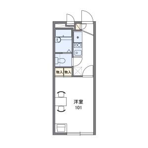 1K Apartment in Okubocho nishijima - Akashi-shi Floorplan