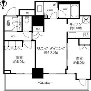 2LDK Mansion in Nishiasakusa - Taito-ku Floorplan