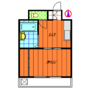 1K Apartment in Shukugawara - Kawasaki-shi Tama-ku Floorplan