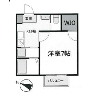 1K Apartment in Hinokuchi - Matsudo-shi Floorplan