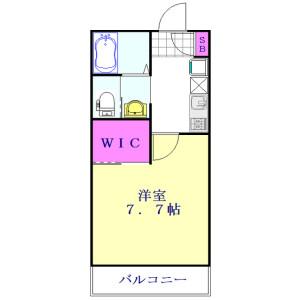 三郷市 中央 1K アパート 間取り