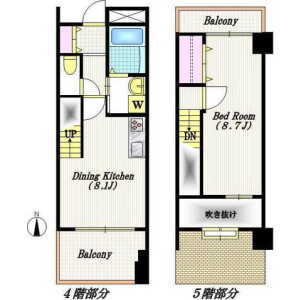 1DK Mansion in Yoga - Setagaya-ku Floorplan