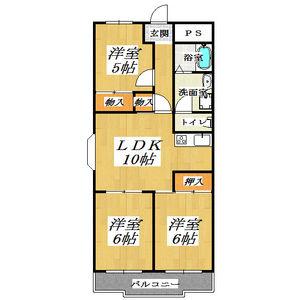 3LDK Mansion in Imagome - Higashiosaka-shi Floorplan