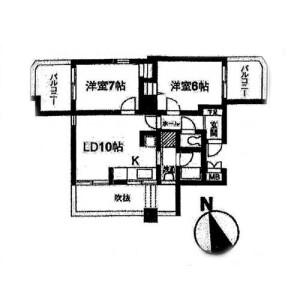 2LDK Mansion in Seta - Setagaya-ku Floorplan
