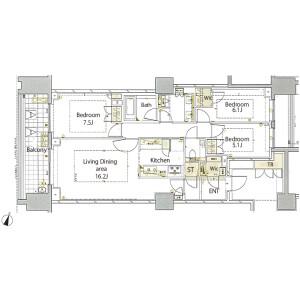 3LDK {building type} in Nampeidaicho - Shibuya-ku Floorplan