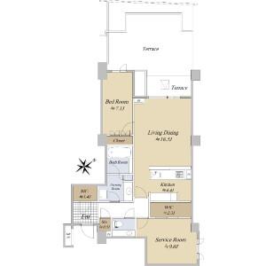 1SLDK {building type} in Minamiaoyama - Minato-ku Floorplan