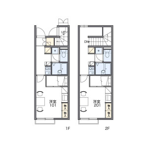 1K Apartment in Yoshida - Kawagoe-shi Floorplan