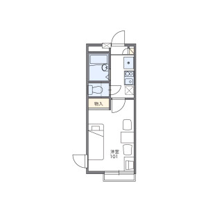 1K Apartment in Miyazawacho - Akishima-shi Floorplan