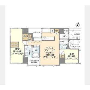 2LDK Mansion in Nihombashikodemmacho - Chuo-ku Floorplan