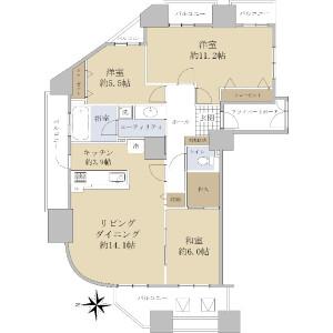 3LDK {building type} in Minami11-jonishi - Sapporo-shi Chuo-ku Floorplan