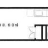 1R Apartment to Rent in Shinagawa-ku Floorplan