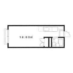 1R Apartment in Nishinakanobu - Shinagawa-ku Floorplan