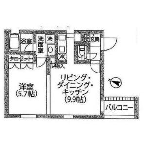 1LDK Mansion in Shimomeguro - Meguro-ku Floorplan