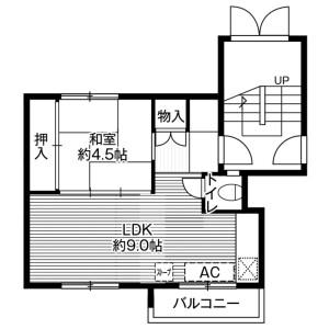 1LDK Mansion in Zenibako(1-3-chome) - Otaru-shi Floorplan