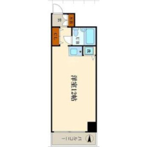 1R Apartment in Ebisunishi - Osaka-shi Naniwa-ku Floorplan