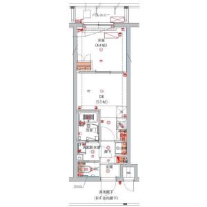 1DK Mansion in Sanno - Ota-ku Floorplan