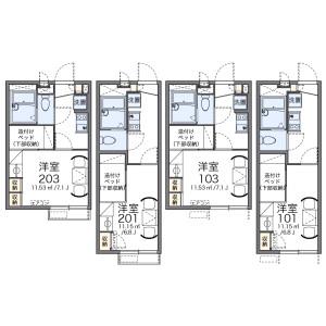 1K Apartment in Takahanacho - Saitama-shi Omiya-ku Floorplan