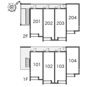 1K Apartment in Yasuracho - Yokosuka-shi Floorplan