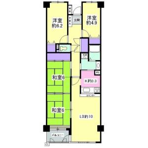 4LDK Apartment in Toshogu - Sendai-shi Aoba-ku Floorplan