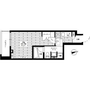 世田谷區玉川台-1K公寓大廈 房間格局