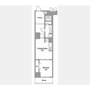 1DK Mansion in Shinjuku - Shinjuku-ku Floorplan