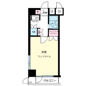 1K Mansion in Ida nakanocho - Kawasaki-shi Nakahara-ku Floorplan
