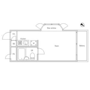 1R {building type} in Nishiogikita - Suginami-ku Floorplan