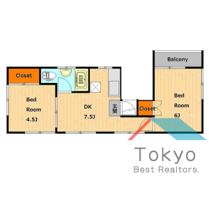 2DK Mansion in Nagasaki - Toshima-ku Floorplan