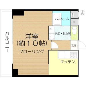 1K {building type} in Tanimachi(6-9-chome) - Osaka-shi Chuo-ku Floorplan