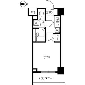 川崎市幸區南幸町-1K公寓大廈 房間格局
