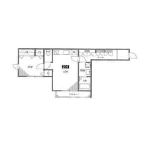 1LDK Mansion in Megurohoncho - Meguro-ku Floorplan