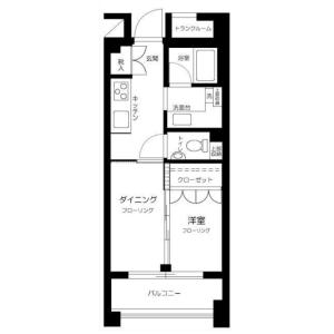 1DK Mansion in Mita - Meguro-ku Floorplan