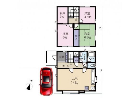 3SLDK House to Rent in Meguro-ku Floorplan
