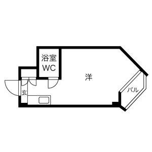 1R Mansion in Horocho - Nagoya-shi Tempaku-ku Floorplan