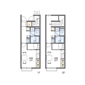 1K Apartment in Jindaijiminamimachi - Chofu-shi Floorplan