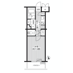 1K Mansion in Daita - Setagaya-ku Floorplan