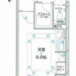 1R Apartment to Rent in Shinjuku-ku Floorplan