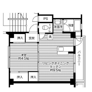 2K Mansion in Tomioka - Kasaoka-shi Floorplan