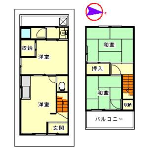 3DK House in Otorinishimachi - Sakai-shi Nishi-ku Floorplan