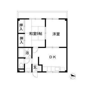 2DK Mansion in Honcho - Funabashi-shi Floorplan
