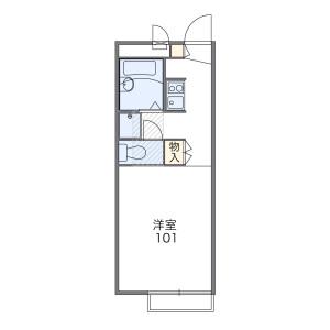 1K Apartment in Nitonacho - Chiba-shi Chuo-ku Floorplan