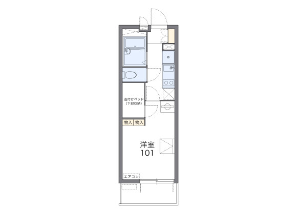 1K Apartment to Rent in Kyoto-shi Fushimi-ku Floorplan