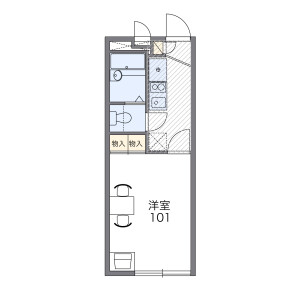 1K Apartment in Kamikoshima - Nagasaki-shi Floorplan