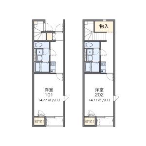 1K Apartment in Okada - Chikushino-shi Floorplan