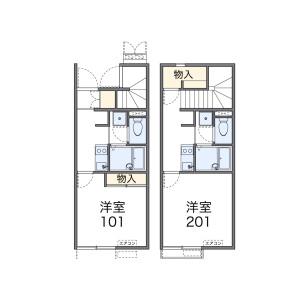 1K Apartment in Ni - Asahi-shi Floorplan
